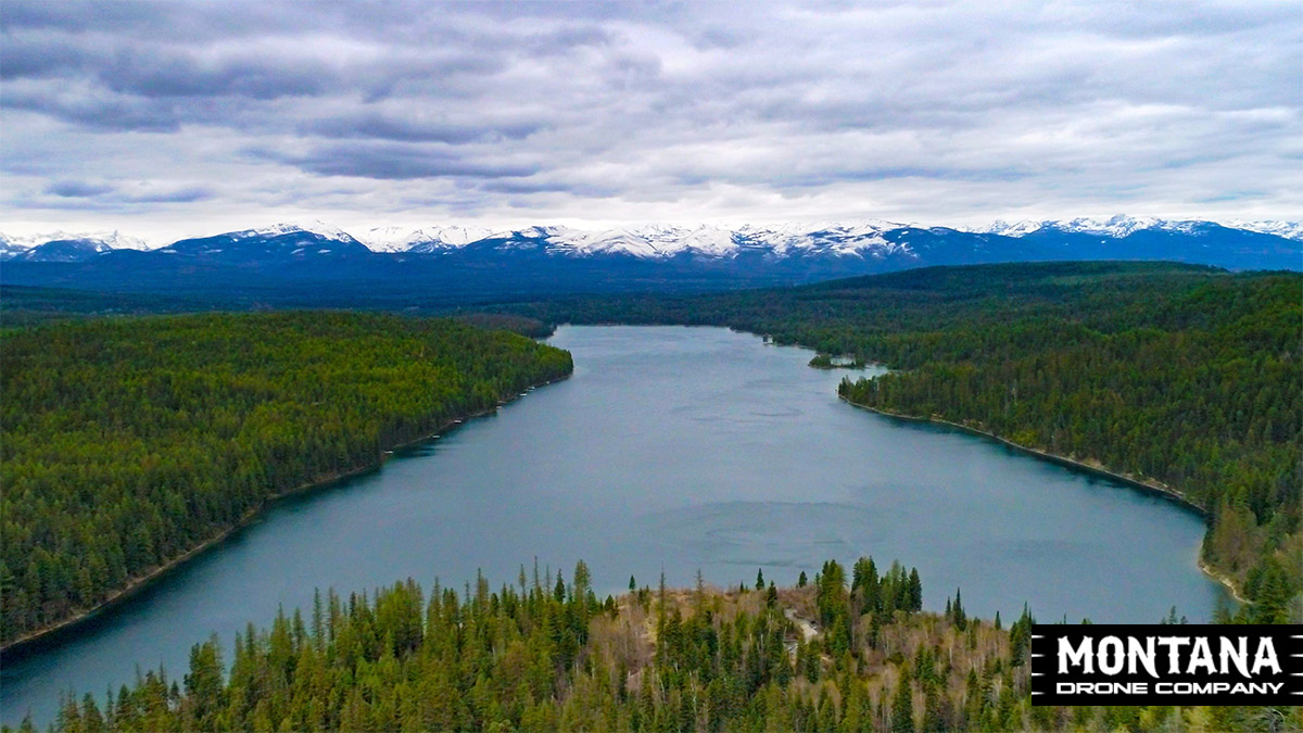 Holland Lake Montana Flathead National Forest Aerial Photograph Pilot Doneen