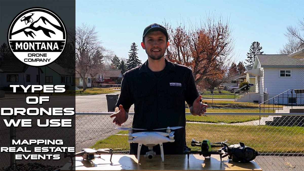 What Types of Drones Does Montana Drone Company Use? Mavic Air 2, Phantom 4 Advanced, DJI FPV