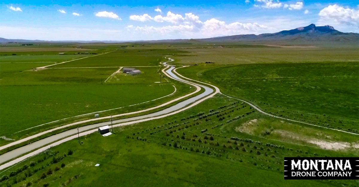 Wyoming Drone Video Ranch Real Estate Property VEO Irrigated Farm